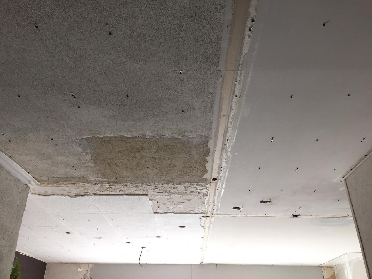 Voici le plafond une fois tous les cloisons démoli