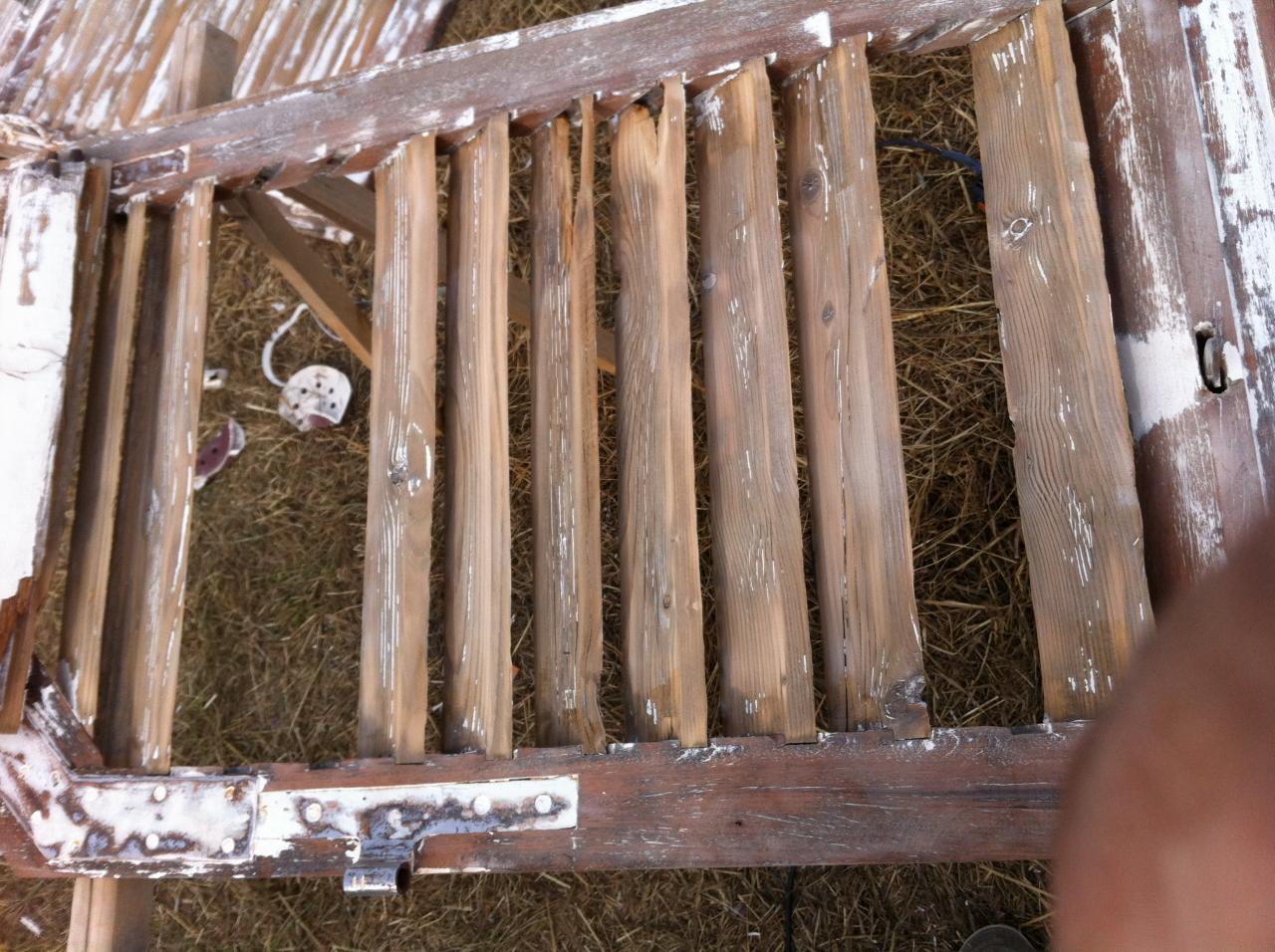 rénovation de volet bois